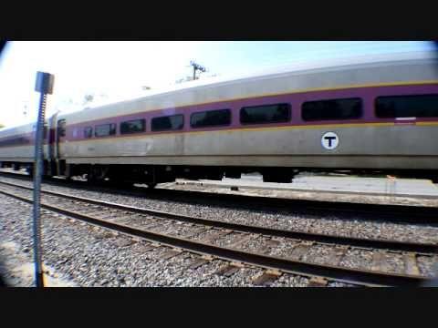MBTA Commuter Train 2008 at Shirley Mass on may 24th 2015