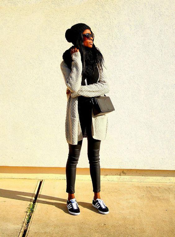 tenue avec adidas gazelle
