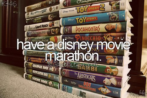 tumblr bucket list Disney movie marathon