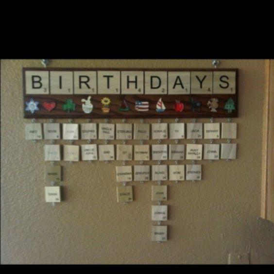 Love this idea for a birthday calendar template for the classroom - birthday calendar template