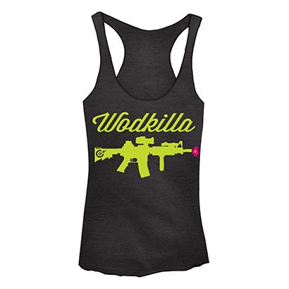 Nothing more inspiring than new workout gear!  Wodkilla Flower Tank