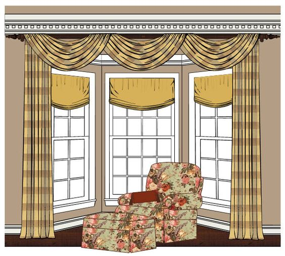 Bay Window Treatments Bay Windows And Window Treatments On Pinterest