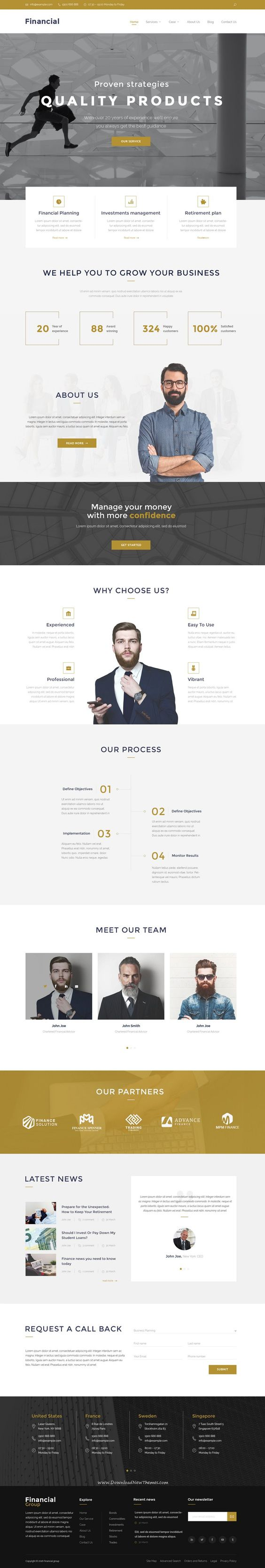 Financial – Clean Business PSD Templates your new website. #psdtemplate…