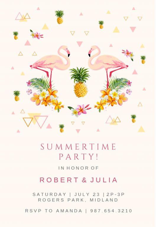 Flamingo Party Invitacion Para Pool Party Gratis Greetings Island Flamingo Birthday Invitations Party Invite Template Pool Party Invitation Template