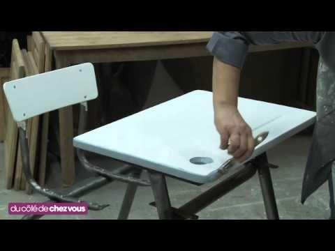 relooking de meuble : le bureau d'ecolier - Atelier B
