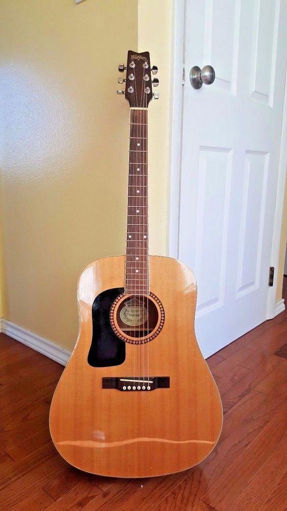 Near Mint George Washburn Acoustic Folk Guitar Heritage Series Mars Case Washburn Washburn Acoustic Guitar Washburn