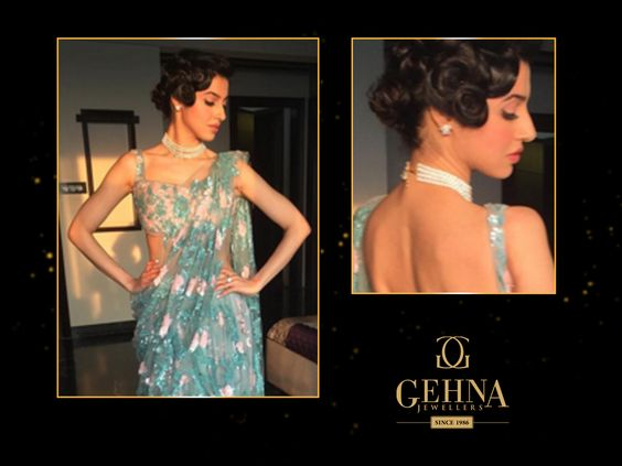 #DivyaKhoslaKumar looked divine in jewellery from #Gehna at the #ScreenAwards2016. The look was styled by @rochelledsa #Bollywood #Celebrities #Celebs