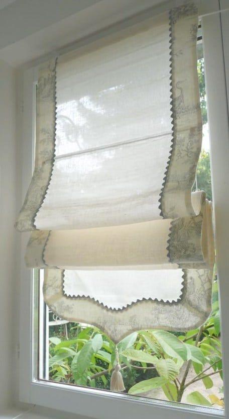 lin toile de jouy idees de rideaux