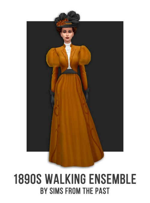 Halloween 2020 Sims SIMS FROM THE PAST   1890s Walking Ensemble Happy Halloween