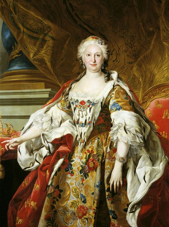 Louis Michel van Loo. Detail from Portrait of Isabel de Farnesio, 1739.