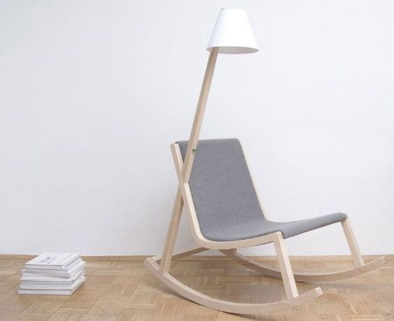 Rocking Chair that Generates Electricity from the Rocking Motion