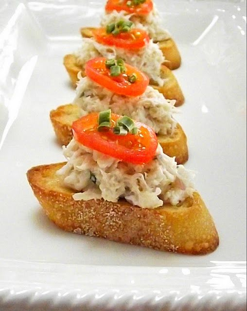 Crab Bruschetta by So Domesticated... it's good... very good.