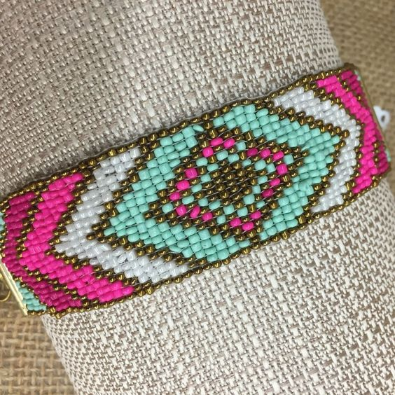 "Perfect for the summer beach accessory, our multicolored ""Geeli Bracelet"". For more gorgeous gypsy inspired collection visit us at www.luvgypsy.com #Bracelet #JewelryCollections #LuvGypsyJewelry #Luvgypsy #StatementJewelry #Jewelry #IndianJewelry #IndianTreasures #Hippie #Luvgypsy #Boho #Gypsy #Tribal #BohoChic #PerfectGift #Bohemian#GypsyBracelet #BohemianBracelet #HippieBracelet #UniqueJewelry #WildHeart #BeadedBracelet #StatementBrcelet #NativeBracelet #TribalBracelet"