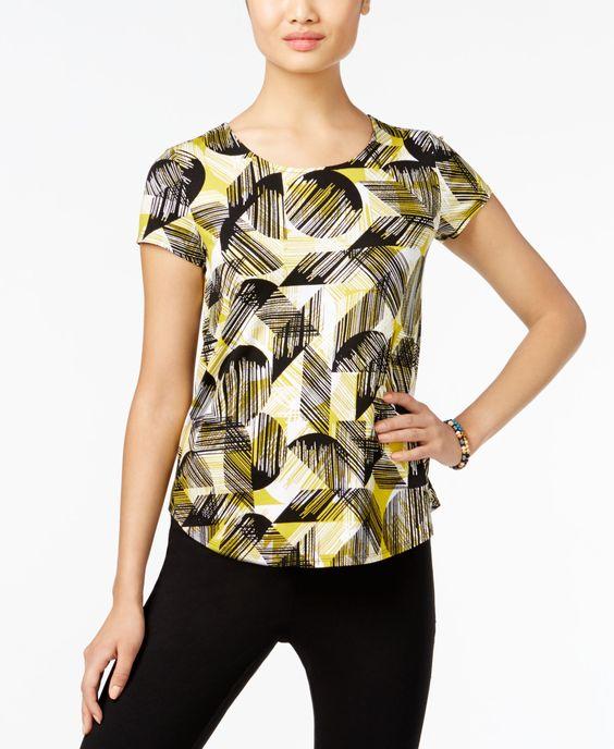 Alfani Petite Printed T-Shirt, Only at Macy's