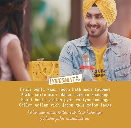 Pehli Mulakaat Song By Rohanpreet Singh Romantic Song Lyrics Music Quotes Lyrics Song Lyric Quotes