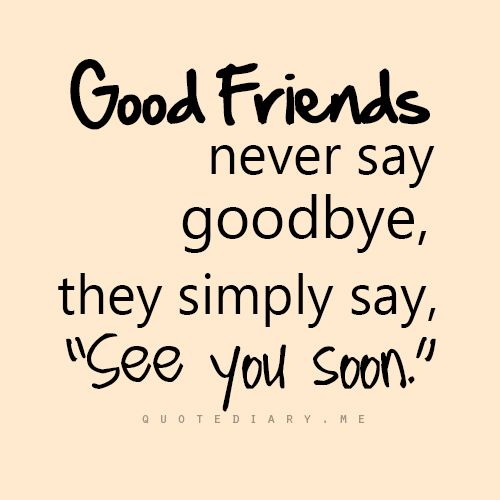 Quotes About Love And Friendship : quote friendship true friends the end see you never say goodbye love ...