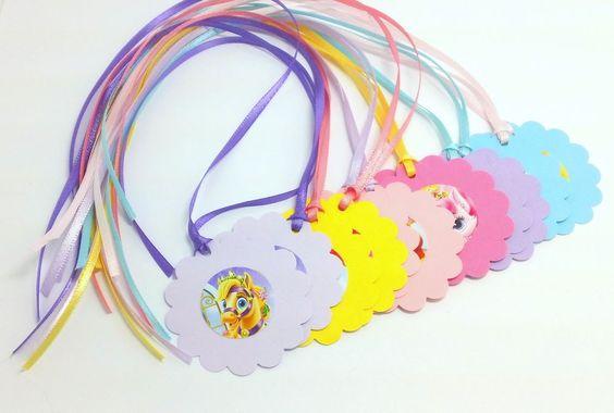 Disney Princess Palace Pets Handmade Party Bag Tags Set of 12 Ariel Cinderella #Disney #BirthdayChild