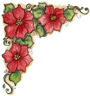 FLOWER BORDER, DECOUPAGE PRINTABLE