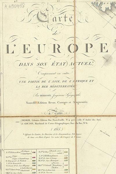 Die territoriale Neuordnung durch den Wiener Kongress