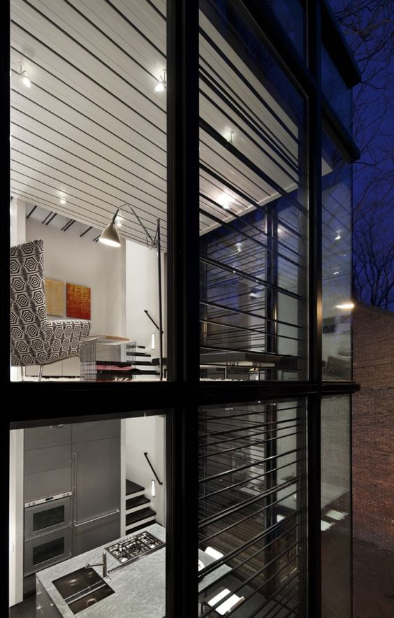 Casa de codi de barres / David Jameson Architect (2)