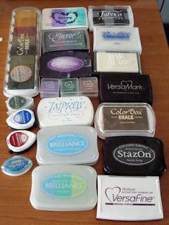 descriptions of the various stamp pads and inks