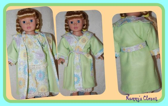 Pj's and robe for an 18 in doll.