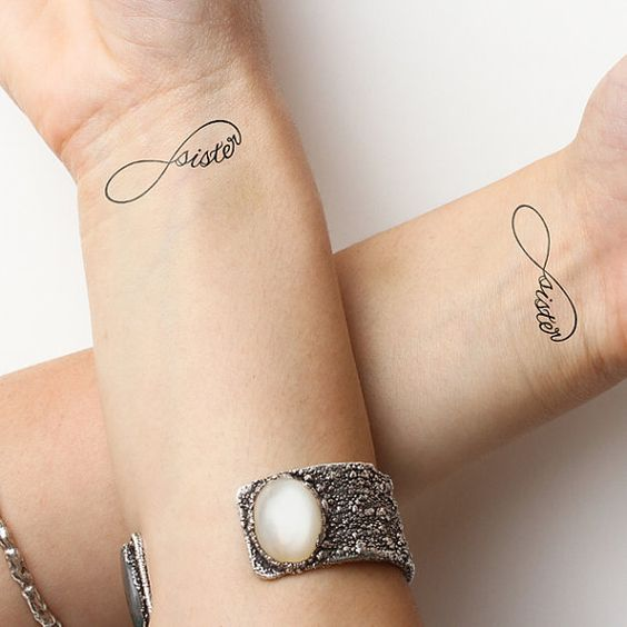 Sister tattoos infinity and sisters on pinterest for Sister tattoos pinterest