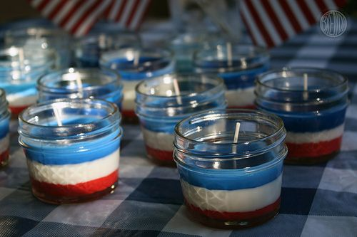 Fourth of July citronella candles: