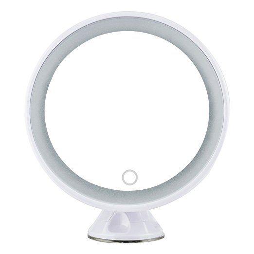 Espejo Aumento X5 Redondo Led Luminoso 360 Rotacion Ajustable