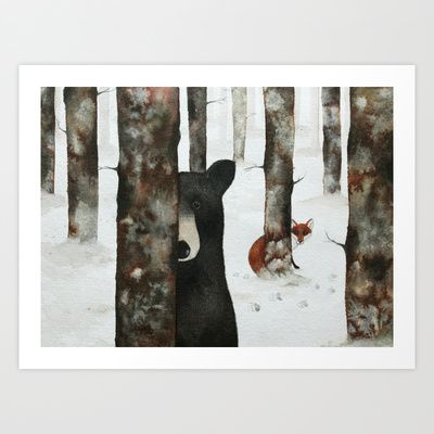 bear+Art+Print+by+Alessandra+Nardotto+-+$17.68