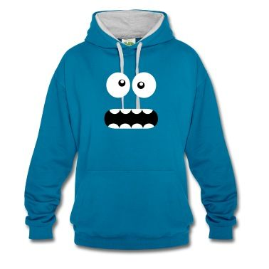 Sweat-shirt Drôle Cartoon Monster Face - Crazy / Smiley #cloth #cute #kids# #funny #hipster #nerd #geek #awesome #gift #shop  Cristabel Crop Top $12- BLACK