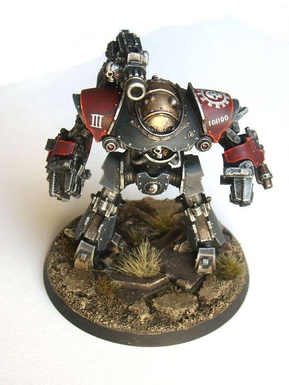 Castellax Battle Automata by Shuggnuggath on http://www.bolterandchainsword.com/topic/298180-taghmata-omnissiah/