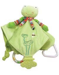 Froggy Teething Blanket.