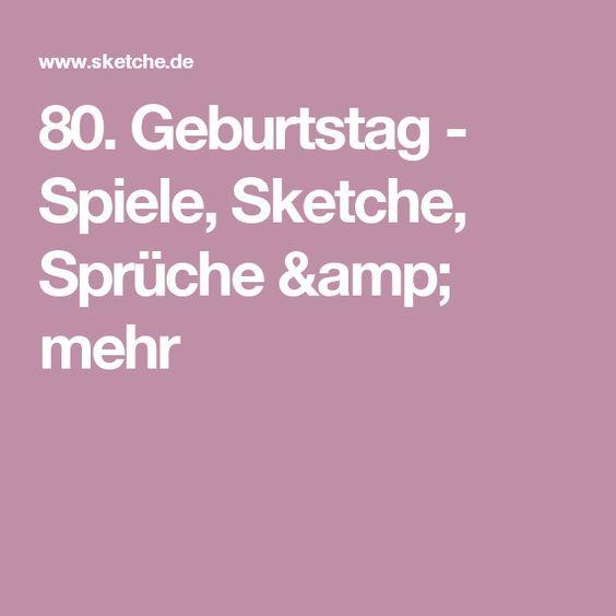 80 Geburtstag Spiele Sketche Spruche Mehr Geburtstag 80