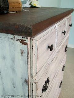 simply chic treasures: Milk Paint Dresser
