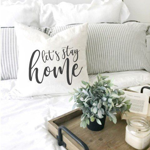 Farmhouse Throw Pillow Let S Stay Home Pillow Cover Rustic Pillows Farmhouse Decoration Country Pillo Farmhouse Pillows Couple Pillow Personalized Pillows