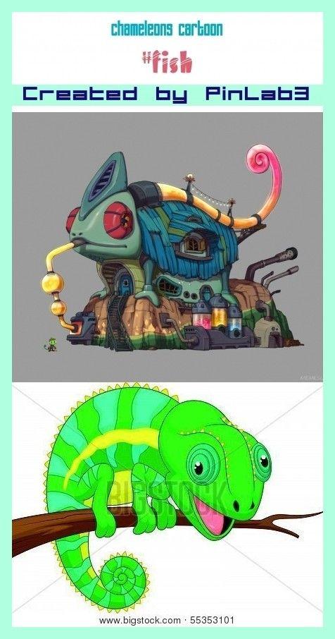 Chameleons Cartoon Cartoon Chameleon Character