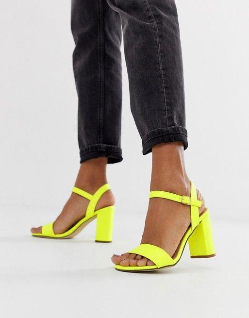 Neon shoes, Heels