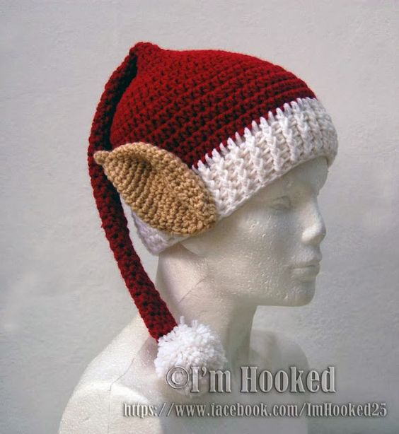 Free Crochet Pattern Long Elf Hat : Patterns, Crochet and Ears on Pinterest
