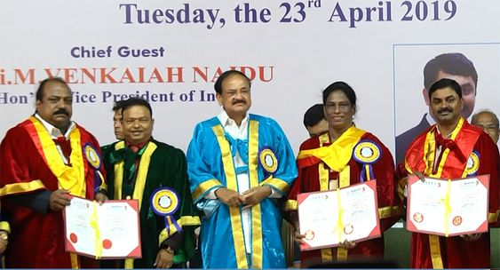 Honorable Vice President of India, M Venkaiah Naidu At 9th Annual Convocation of Vels Institute