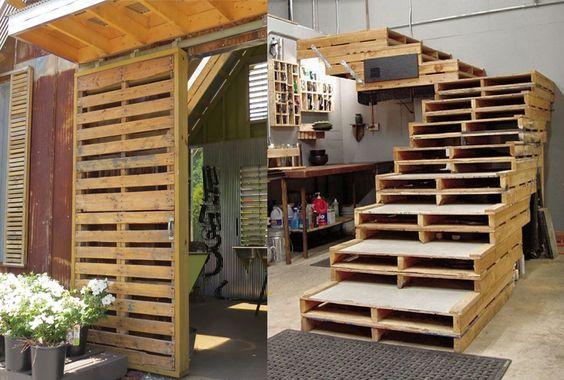 Werkplaats inrichting met oude paletten meer idee n met for Interieur inrichting ideeen