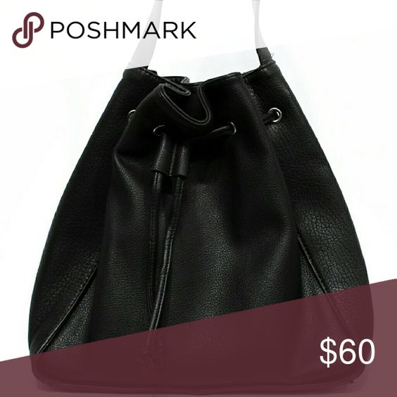 Street level black leather bag Authentic suede, great quality,  large, and trendy. Street level  Bags Crossbody Bags