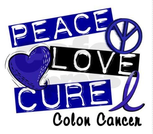 Peace Love & Cure Colon Cancer