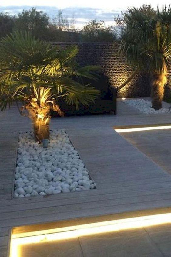48 Fascinating Small Backyard Landscape Designs To Your Garden Garden Lighting Design Modern Garden Design Roof Garden