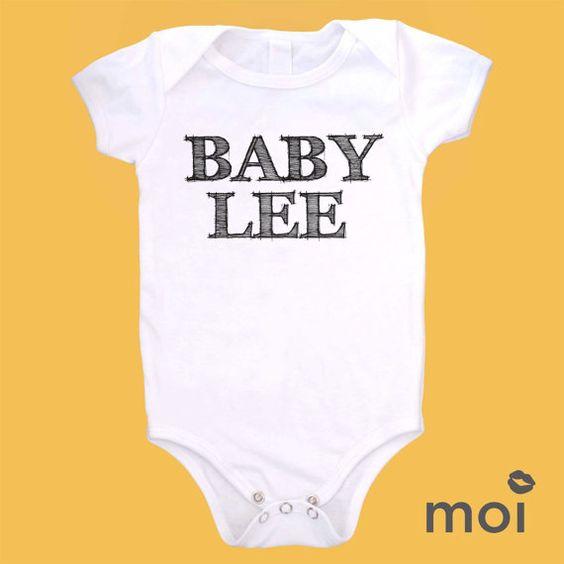 Last name Organic Cotton Onesies Custom Baby Name Bodysuit by MoiLLC on Etsy, $18.99