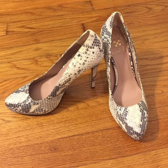 """Vince Camuto Platform Python Pumps Never worn hidden platform Python pumps. 4"""" heel. Python has metallic sheen to it, very beautiful! Size 6.5. In perfect condition. Vince Camuto Shoes Heels"""
