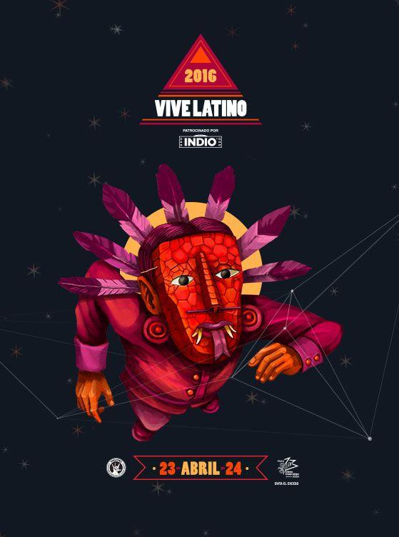 Recientemente comenzó a circular el cartel del Vive Latino 2016, representado gráficamente por el arte de Edgar ¨Saner¨ Flores.