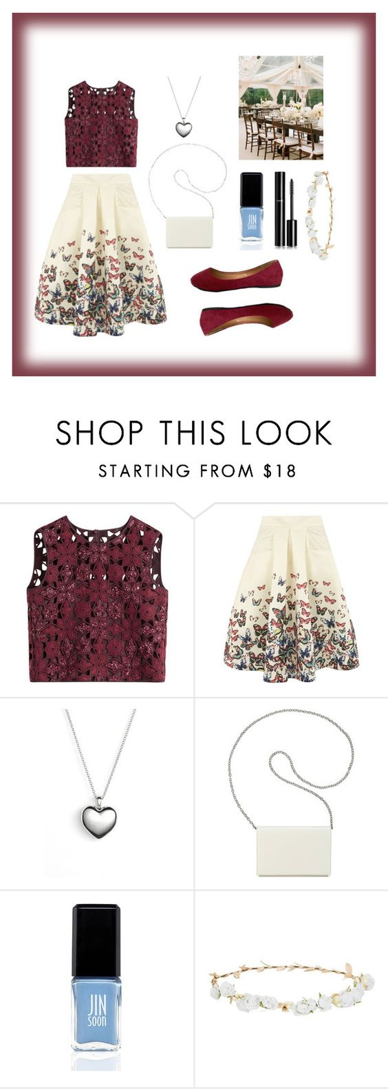"""""""outdoor wedding"""" by lailarezk ❤ liked on Polyvore featuring Alberta Ferretti, Jolie Moi, Pandora, Nine West, JINsoon, Robert Rose, Chanel and Reception"""