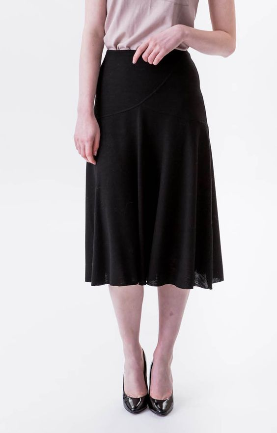 Our Lupin skirt has a classic elegance and fits all shapes and sizes and the cut ensures it is very flattering.