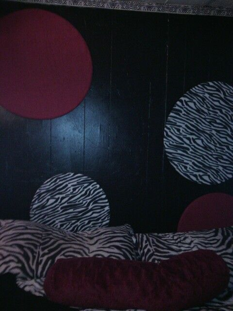 Wall art made of hola hoops!